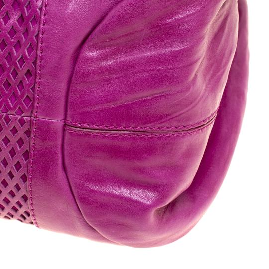 Jimmy Choo Leather Suede Perforated Hobo Bag Image 7
