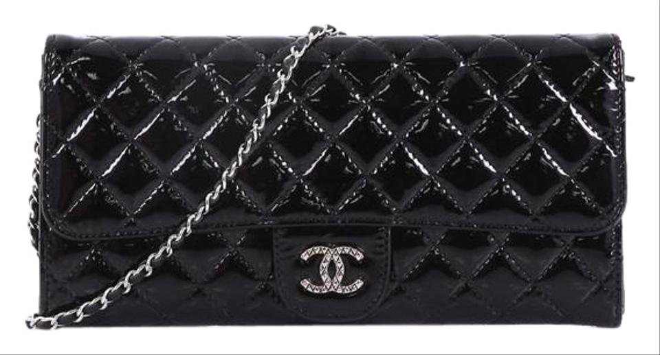 0c7bf4c31091 Chanel Wallet on Chain Clutch East West Brilliant Quilted Patent ...