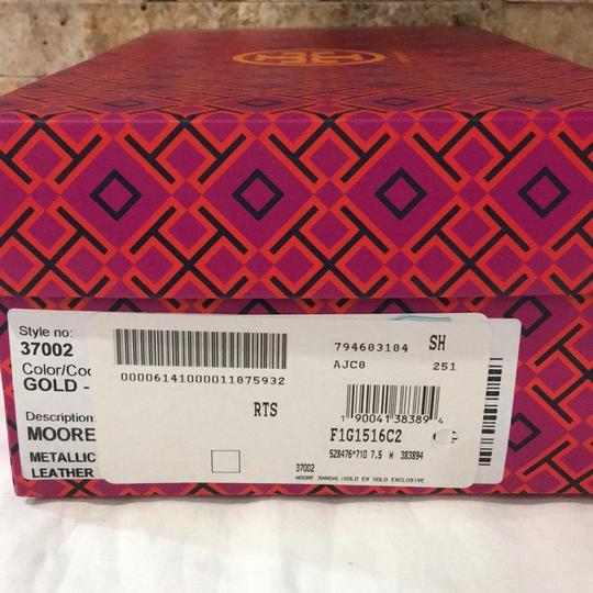Tory Burch Gold Sandals Image 8