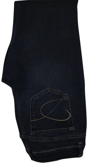 Item - Blue Dark Rinse So Slimming Straight Leg Jeans Size 31 (6, M)