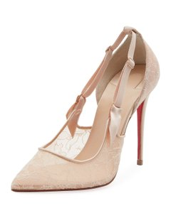 Christian Louboutin Classic Lace Nude Sexy Heels Beige Pumps