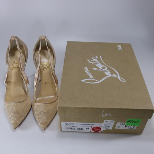 Christian Louboutin Classic Lace Nude Sexy Heels Beige Pumps Image 1