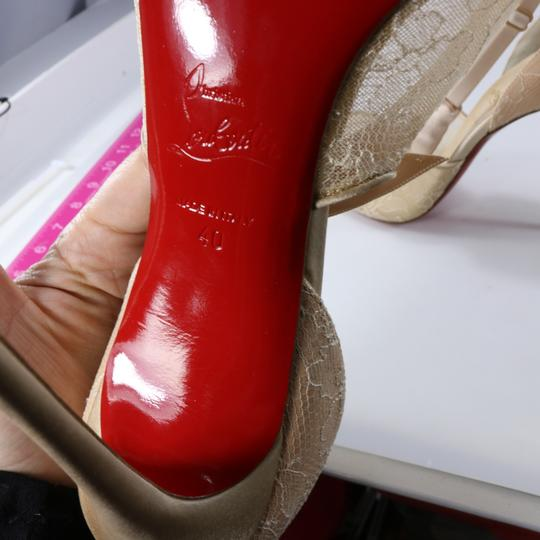 Christian Louboutin Classic Lace Nude Sexy Heels Beige Pumps Image 10