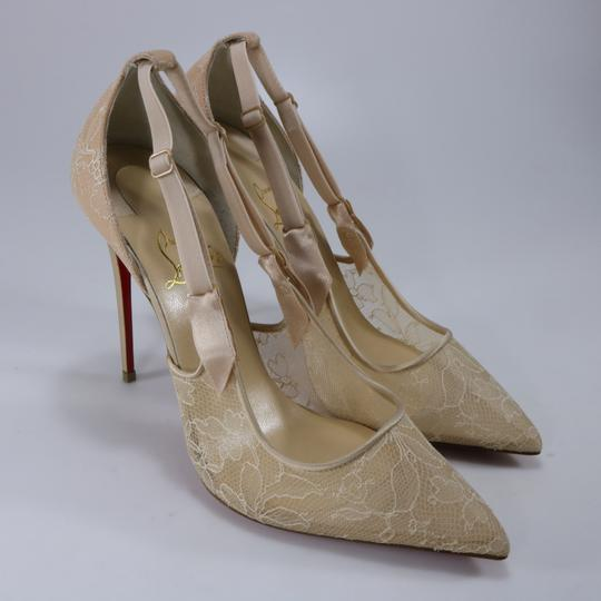 Christian Louboutin Classic Lace Nude Sexy Heels Beige Pumps Image 2