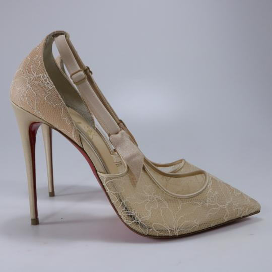 Christian Louboutin Classic Lace Nude Sexy Heels Beige Pumps Image 3