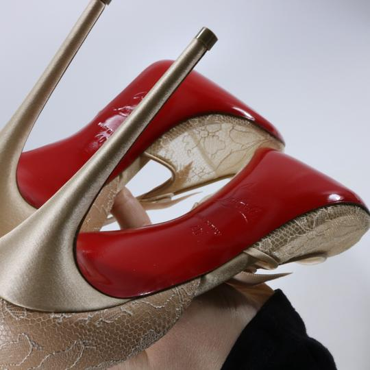 Christian Louboutin Classic Lace Nude Sexy Heels Beige Pumps Image 7