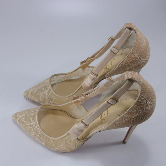 Christian Louboutin Classic Lace Nude Sexy Heels Beige Pumps Image 8