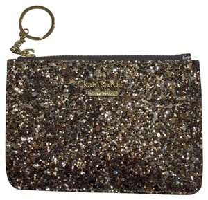 Kate Spade Bitsy Laurel Way Glitter Credit Card Keychain Mini Wallet w/Sequins