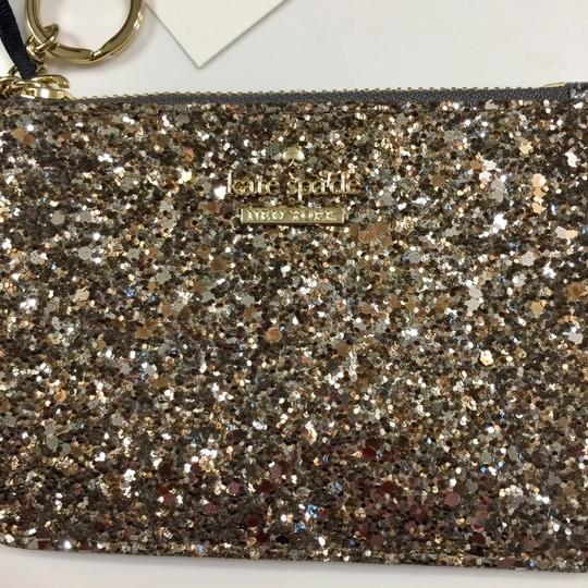 Kate Spade Bitsy Laurel Way Glitter Credit Card Keychain Mini Wallet w/Sequins Image 1