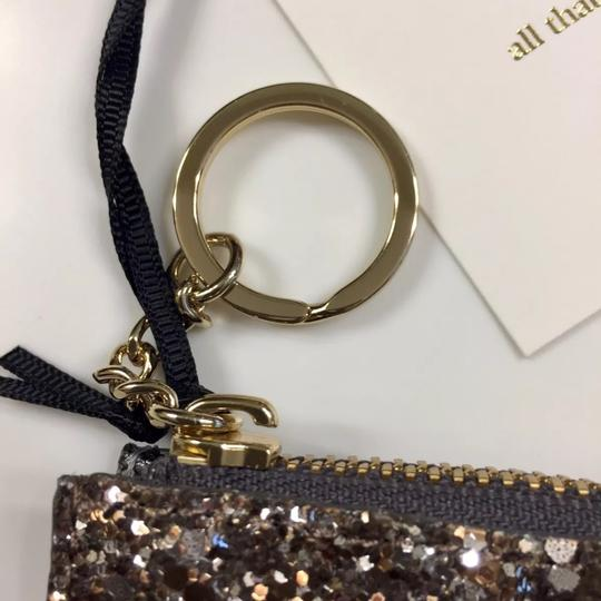 Kate Spade Bitsy Laurel Way Glitter Credit Card Keychain Mini Wallet w/Sequins Image 4