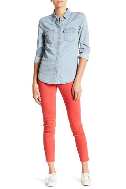 Hudson Coral Mid Rise Ankle Skinny Jeans-Medium Wash Image 5