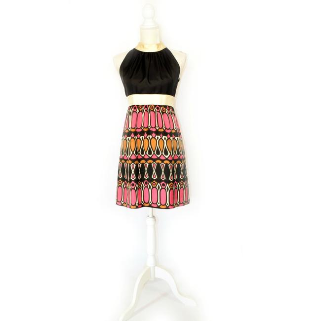 Milly of New York Special Occasion Silk Graphic Dress Image 2