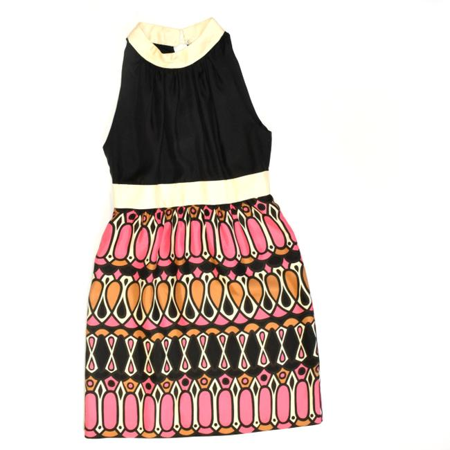 Milly of New York Special Occasion Silk Graphic Dress Image 5