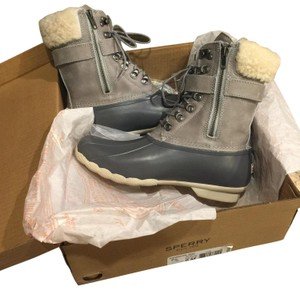 Sperry Rain Snow Winter Lined Duck Gray Boots