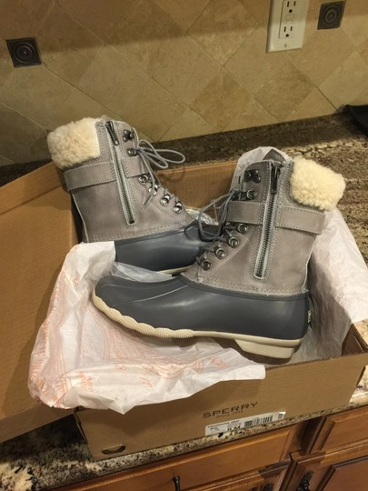 Sperry Rain Snow Winter Lined Duck Gray Boots Image 1