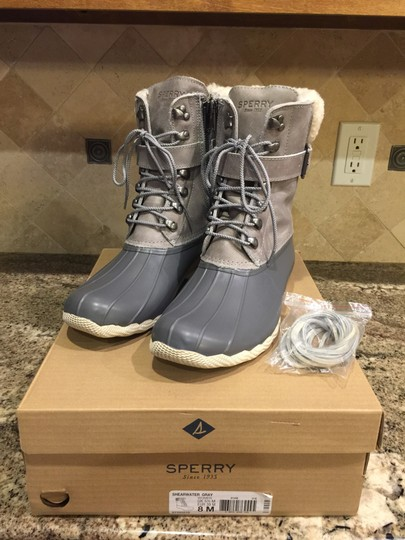 Sperry Rain Snow Winter Lined Duck Gray Boots Image 2