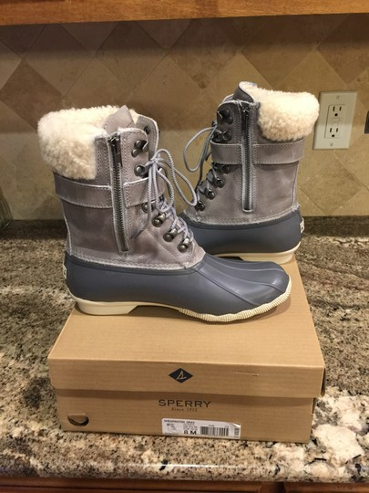 Sperry Rain Snow Winter Lined Duck Gray Boots Image 3