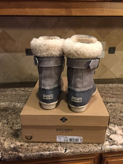 Sperry Rain Snow Winter Lined Duck Gray Boots Image 4