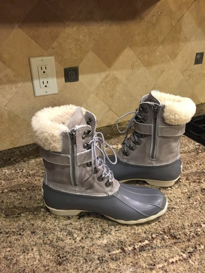 Sperry Rain Snow Winter Lined Duck Gray Boots Image 5