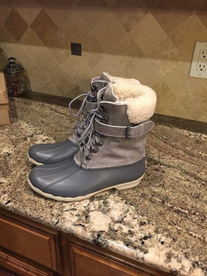 Sperry Rain Snow Winter Lined Duck Gray Boots Image 6