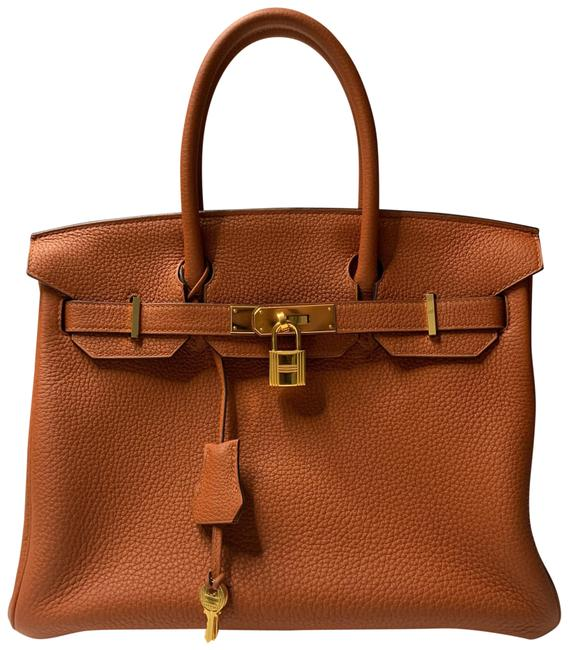 Item - Birkin 30 Cuivre with Gold Hardware Clemence Leather Tote