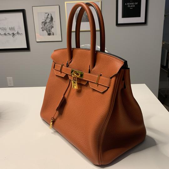 Hermès Tote in Cuivre with Gold Hardware Image 1