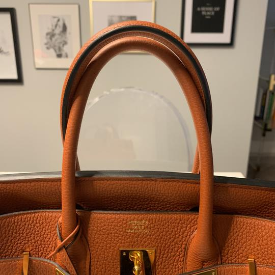 Hermès Tote in Cuivre with Gold Hardware Image 10