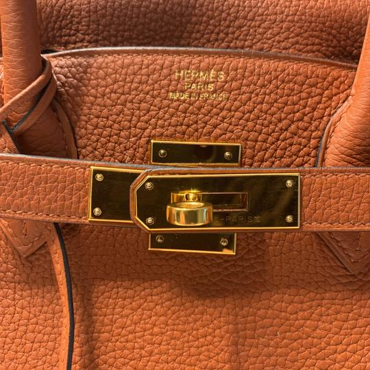 Hermès Tote in Cuivre with Gold Hardware Image 5