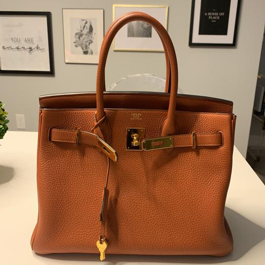 Hermès Tote in Cuivre with Gold Hardware Image 7