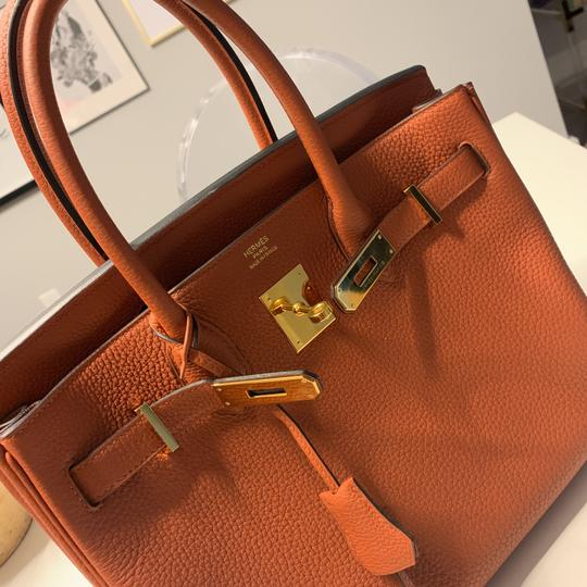 Hermès Tote in Cuivre with Gold Hardware Image 8