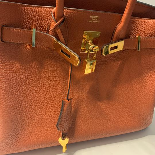 Hermès Tote in Cuivre with Gold Hardware Image 9