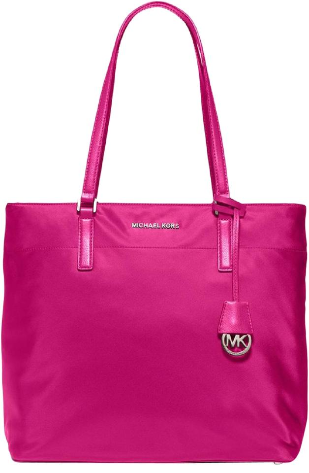5ccddecce0b9 Michael Kors Fuchsia Nylon And Leather Tote in Raspberry Bright Hot Pink  Image 0 ...