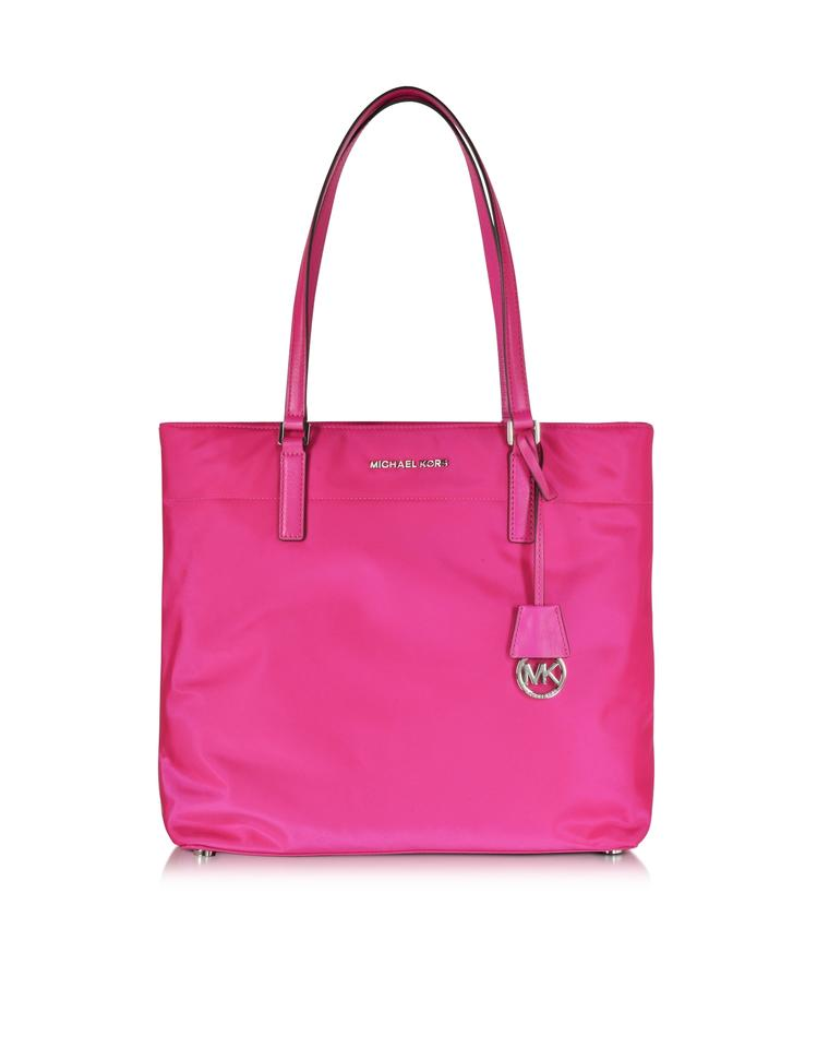 af5fef810e365e Michael Kors Fuchsia Nylon And Leather Tote in Raspberry Bright Hot Pink  Image 8. 123456789