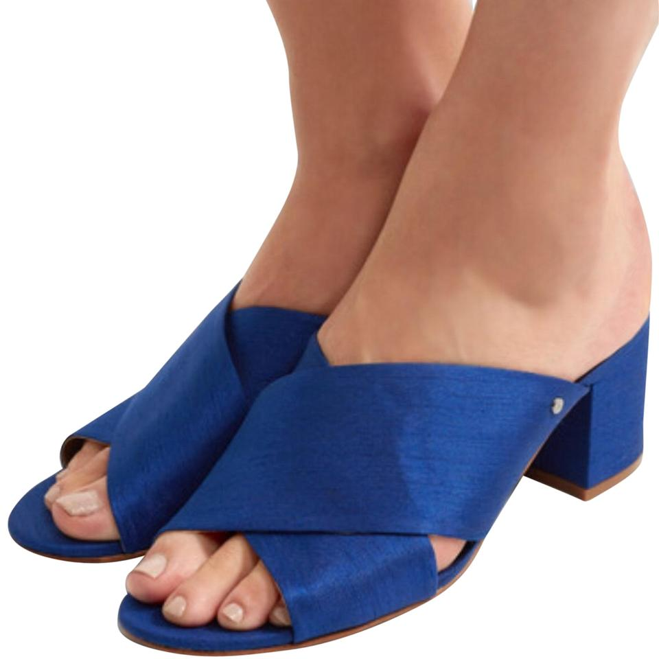 2f698749a134 Sam Edelman Blue Stanley Slub Sandals Size US 8.5 Regular (M