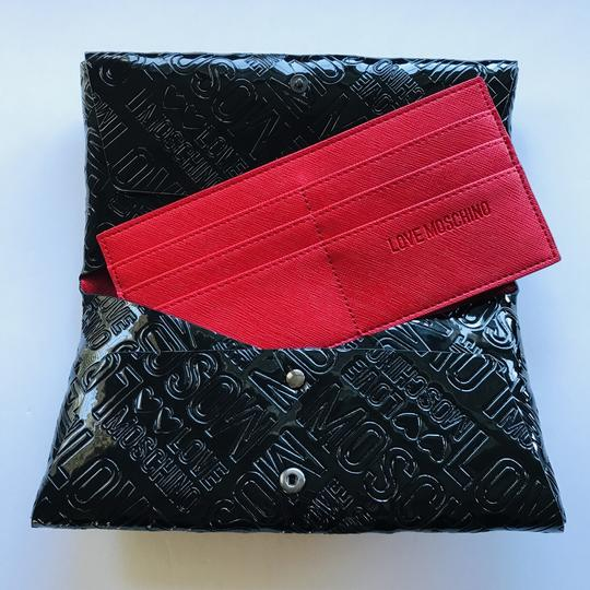 Love Moschino Love Moschino Embossed Logo Patent Leather Wallet Image 4