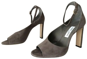 Jimmy Choo Theresa Ankle Strap Heel Sandals Mink Pumps