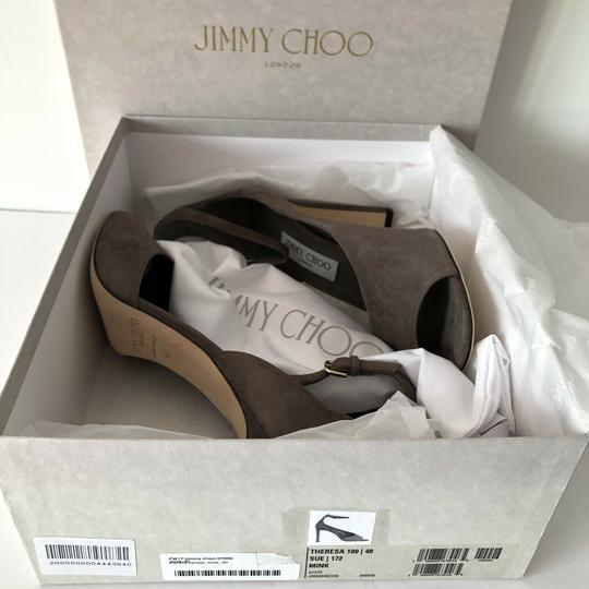 Jimmy Choo Theresa Ankle Strap Heel Sandals Mink Pumps Image 1