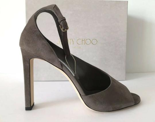 Jimmy Choo Theresa Ankle Strap Heel Sandals Mink Pumps Image 2