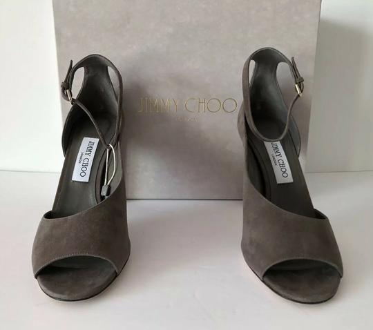 Jimmy Choo Theresa Ankle Strap Heel Sandals Mink Pumps Image 3