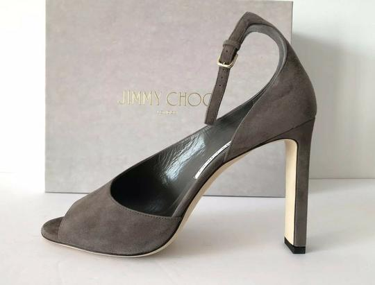 Jimmy Choo Theresa Ankle Strap Heel Sandals Mink Pumps Image 5