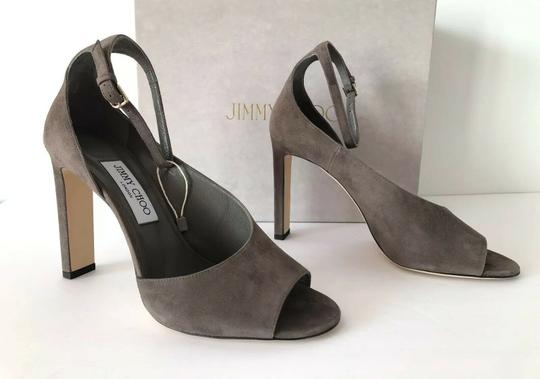 Jimmy Choo Theresa Ankle Strap Heel Sandals Mink Pumps Image 9