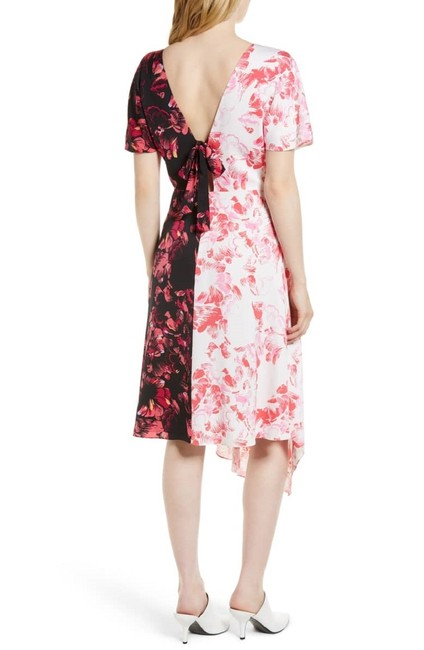 Lewit short dress Pink Black White Floral Silk on Tradesy Image 1