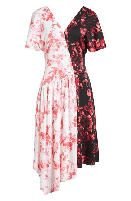 Lewit short dress Pink Black White Floral Silk on Tradesy Image 11