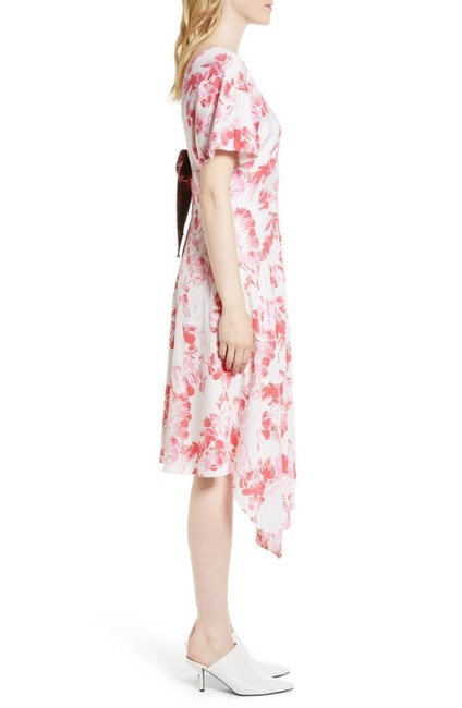 Lewit short dress Pink Black White Floral Silk on Tradesy Image 2
