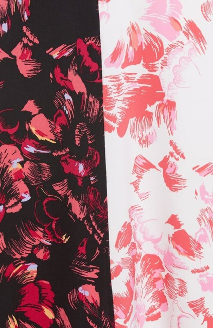 Lewit short dress Pink Black White Floral Silk on Tradesy Image 4