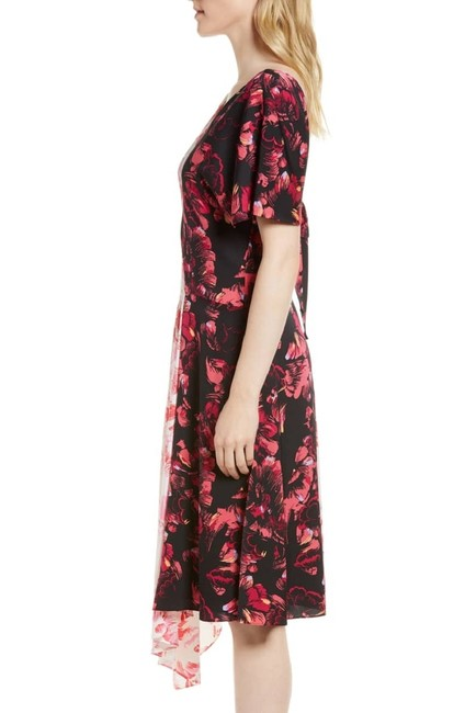 Lewit short dress Pink Black White Floral Silk on Tradesy Image 9