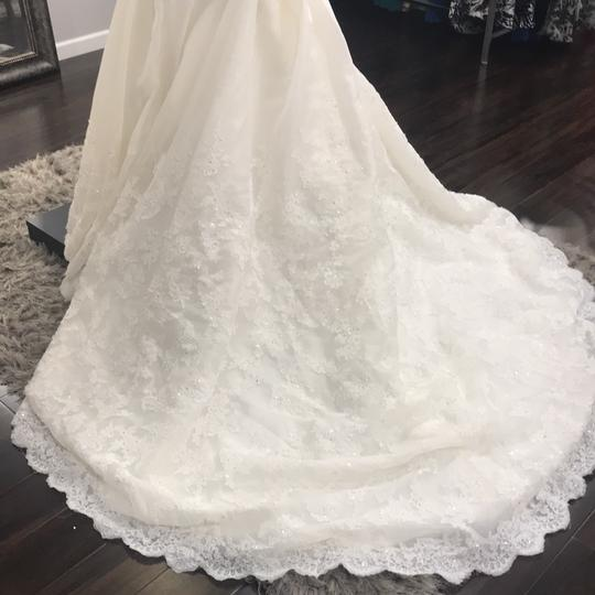 Sophia Tolli Ivory Y21439 Formal Wedding Dress Size 12 (L) Image 3