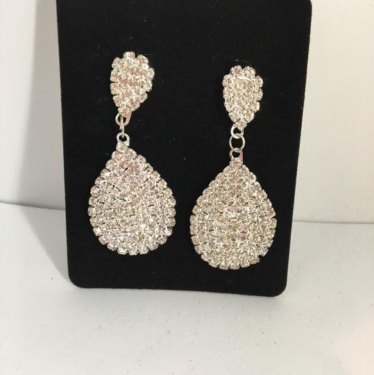Other Silver Rhinestone Earrings Image 1