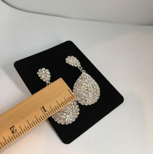 Other Silver Rhinestone Earrings Image 3