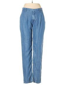 Mango Jeans Lyocell Tapered Skinny Pants Blue